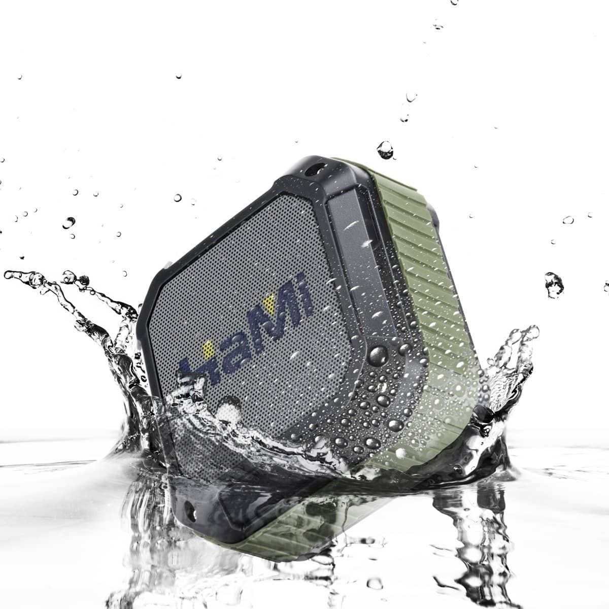 HaMi Waterproof Bluetooth Speakers, Portable Wireless Speakers 4.0 with 12 Hour Playtime, Rugged Shockproof Shower Speaker w/ Built-In Microphone $6.99 @Amazon