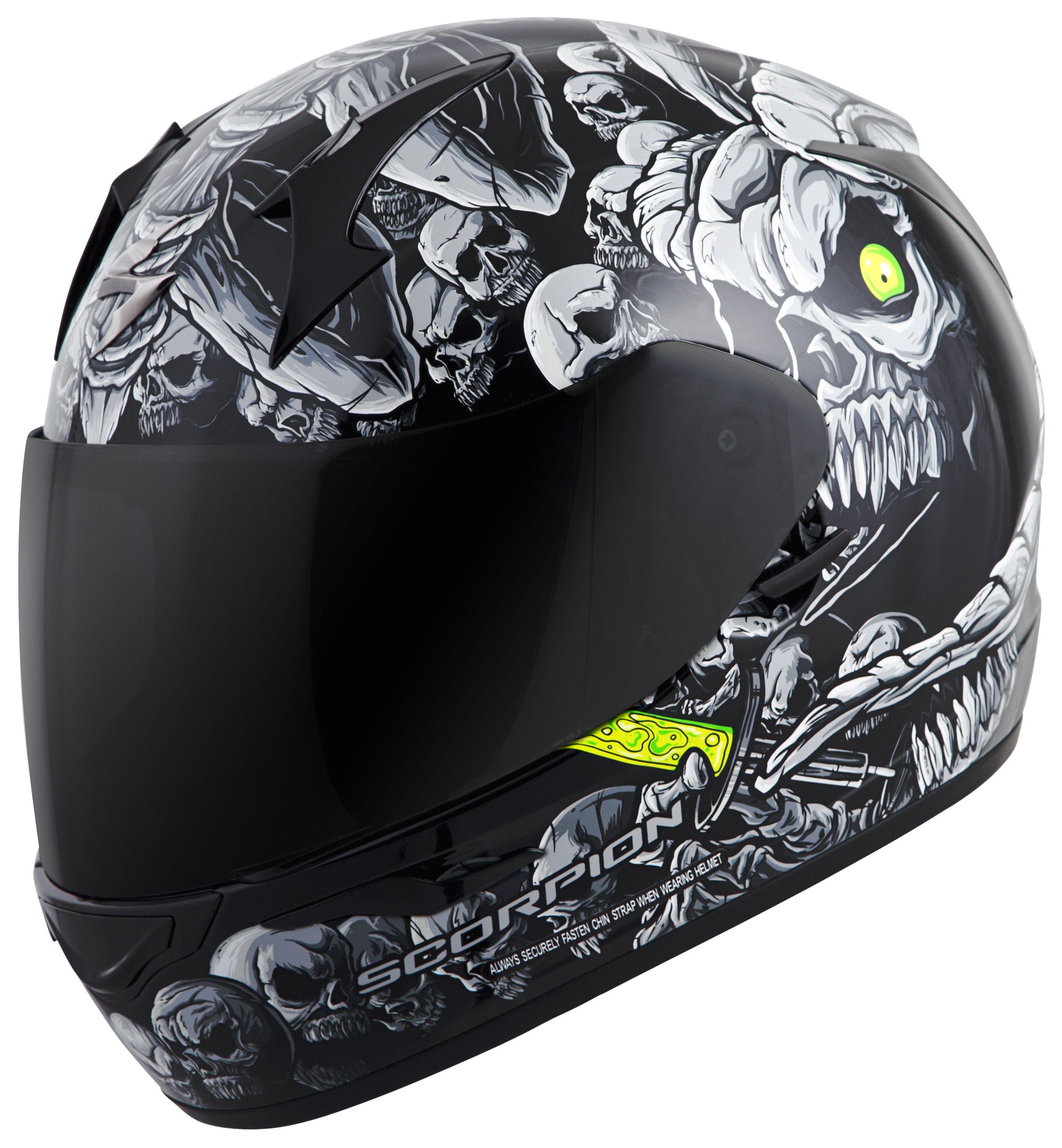 Scorpion EXO-R410 Dr. Sin Motorcycle Helmet - 90$ -  DOT & Snell M2015 - FS - No Tax in CA $90