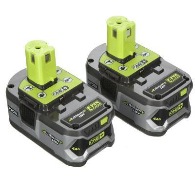 Ryobi One+ 18V 4AH Batteries (2 Pack) $84 B&M YMMV