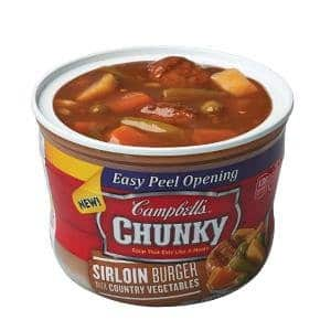 Prime Members: 8-Pk of 15.25oz Campbell's Chunky Soup (Sirloin Burger) $9.50 w/ S&S + Free S&H