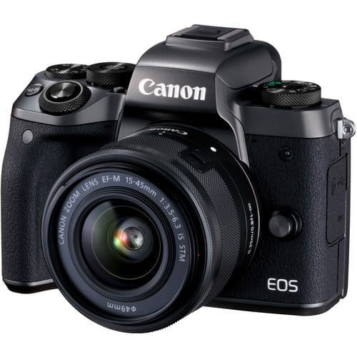 Canon EOS M5 Mirrorless Digital Camera with 15-45mm Lens $450