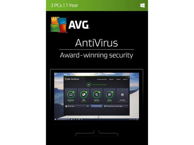 AVG AntiVirus 2017 - 3 PCs $9 AC | ESET Smart Security 2016 - 1 PC $18 AC & More @ Newegg