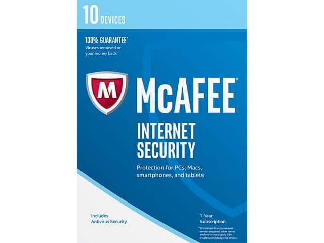McAfee Internet Security 2017 - 10 Device Free After Rebate & More @ Newegg