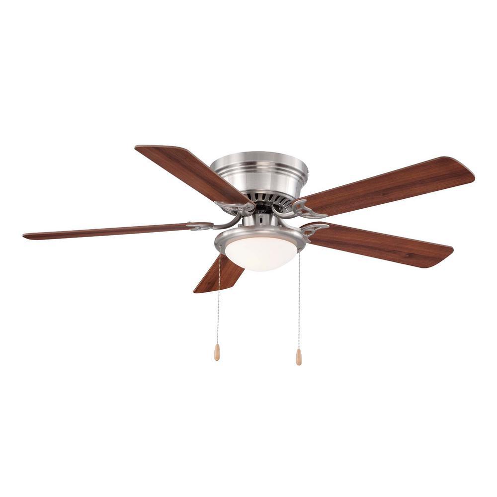 "52"" Hugger LED Ceiling Fan (Brushed Nickel) $39.97 + Free Store Pickup @ Home Depot"