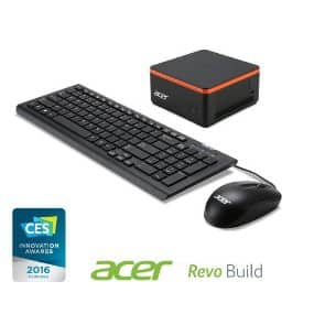 Acer Revo Build Mini Desktop (Intel Celeron, 2GB RAM, 32GB SSD, Windows 10). $129.99 from Amazon