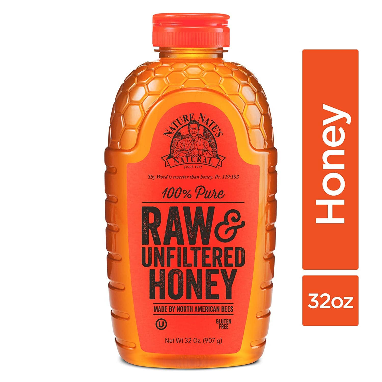 Nature Nate's 100% Pure Raw & Unfiltered Honey; 32-oz. Squeeze Bottle; Certified Gluten Free and OU Kosher Certified (ADD-ON ITEM) $7.84