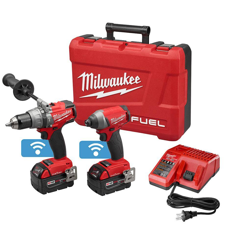 YMMV $125.03 Milwaukee One-Key 18 Volt Drill/Impact Bluetooth (Home Depot)