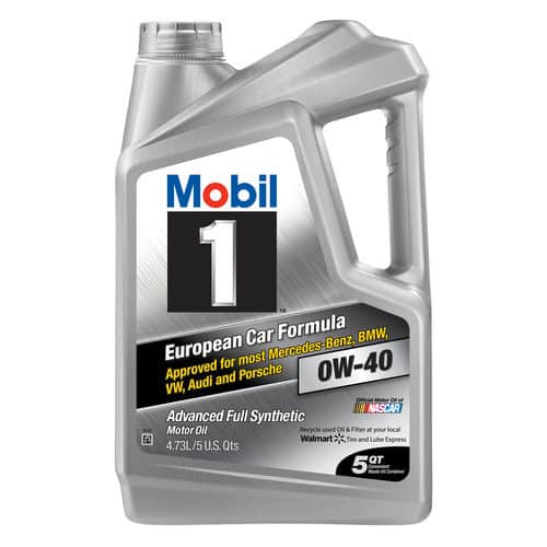 Mobil 1 0W-40 Advanced Full Synthetic Motor Oil, 5 qt $22.88&Free 2-day shipping on orders over $35