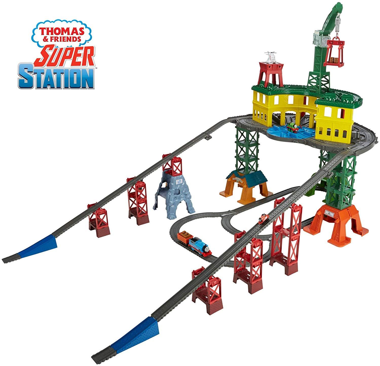 Thomas Friends Super Station Railway Train Set 68 Free Shipping