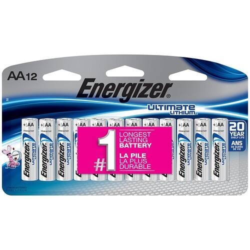 Energizer Ultimate Lithium AA Universal Battery - 12pk $13.99