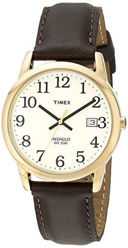 17fd24d74 Timex Men's Easy Reader Date Leather Strap Watch $19.99 - Slickdeals.net