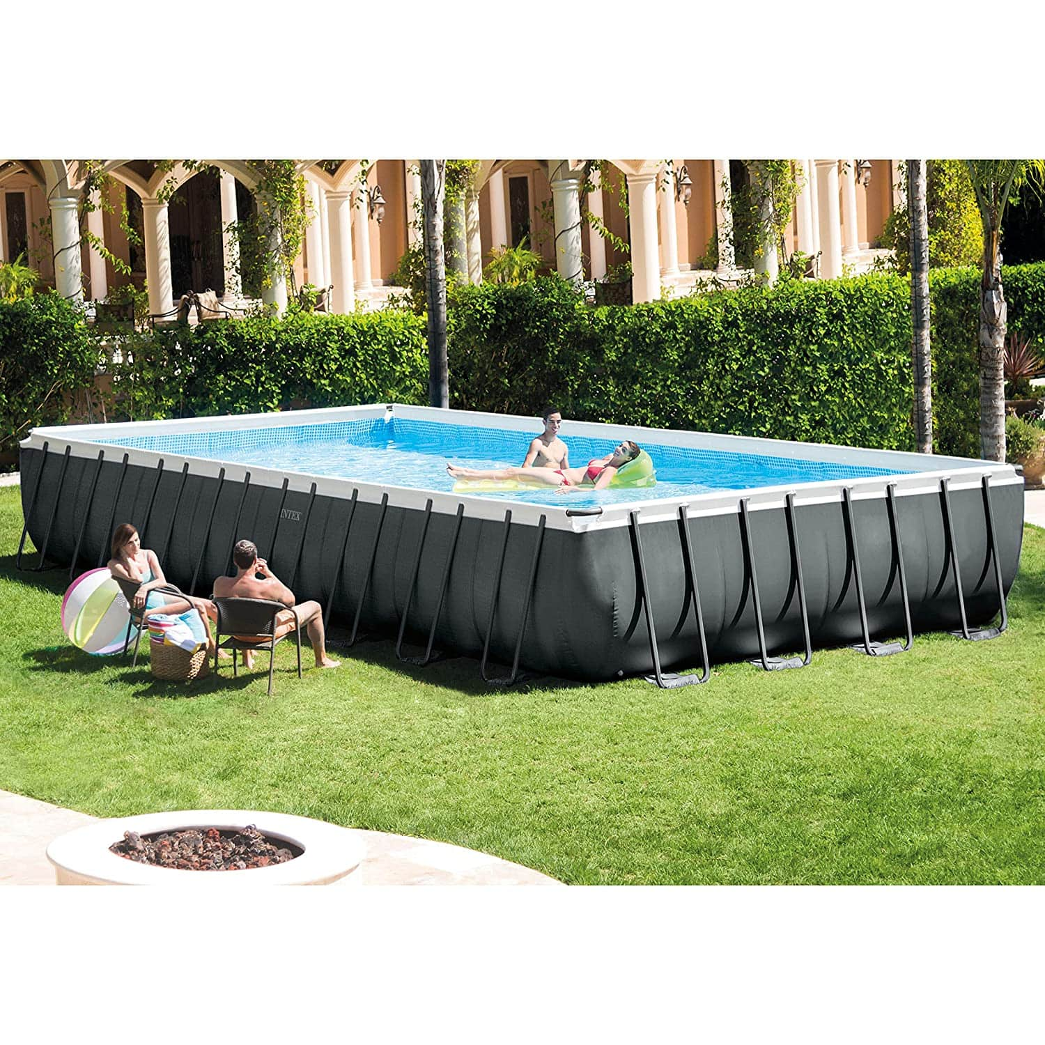 Intex 32ft X 16ft X 52in Ultra XTR Rectangular Pool Set with Sand Filter Pump & Saltwater System Ships FREE $1575.92