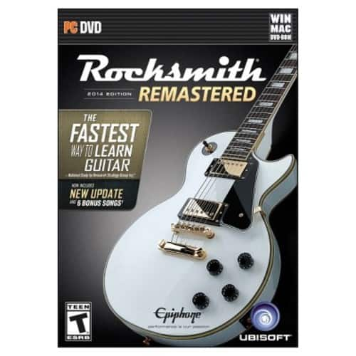 Rocksmith Remastered PC Version.  DVD with Cable $30 Amazon