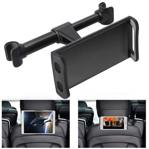 360° Rotation Car Headrest Mount, Phone Tablet Car Headrest Grip Mount Stand Cradle Bracket Holder for $6.59