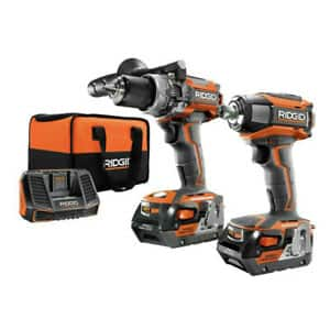 Ridgid ref. brushless hammer drill and impact driver with 2 4A*h batteries for 120$ $120