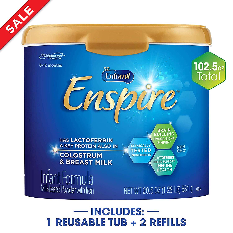 Enspire Baby Formula Milk Powder & Refills, 102.5 Ounce (25 % + 15 % S&S) $111.87