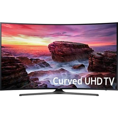 "Samsung - 55"" Class (54.6"" Diag.) - LED - Curved - 2160p - Smart - 4K Ultra HD TV $599.99"