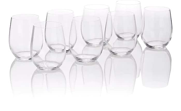 Riedel stemless glassware 50% off at Barneys