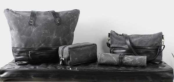 15% off Dopp Kit made from waxed canvas and recycled bike inner tubes (and other items) $55.25