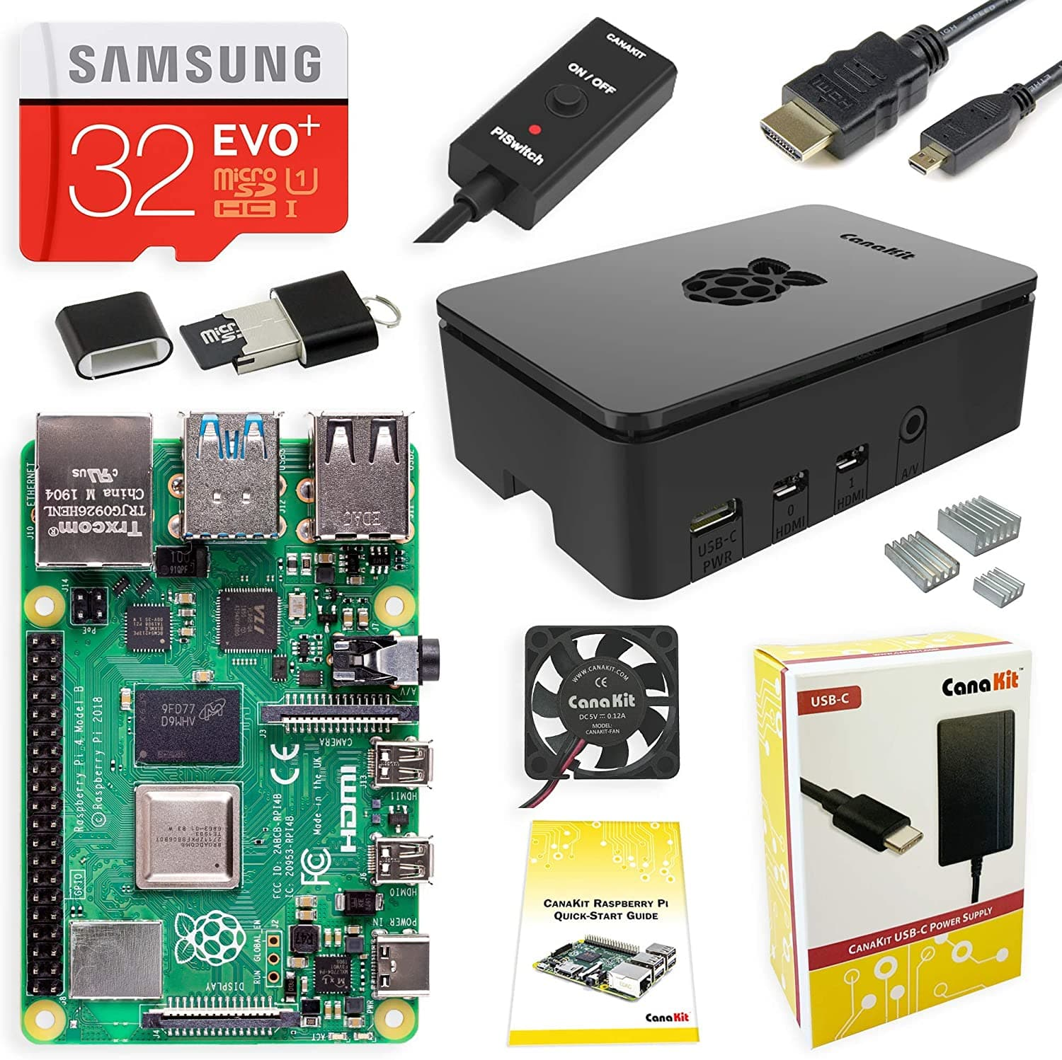 CanaKit Raspberry Pi 4 4GB Starter Kit - 4GB RAM Black case  10% COUPON APPLIED AT CHECKOUT $89.99