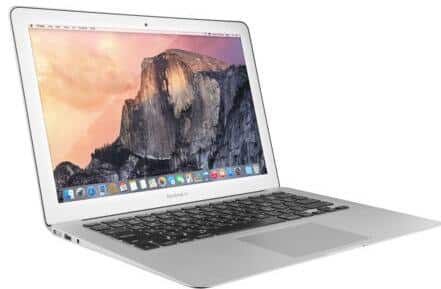 "(Refurbished) Apple 13.3"" MacBook Air: Core i5-5250U 1.6GHz, 4GB RAM, 256GB SSD, Mac OS $499"