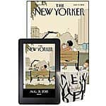 New Yorker magazine 12 print issues + digital subscription + tote bag: $12 (Amazon magazines)