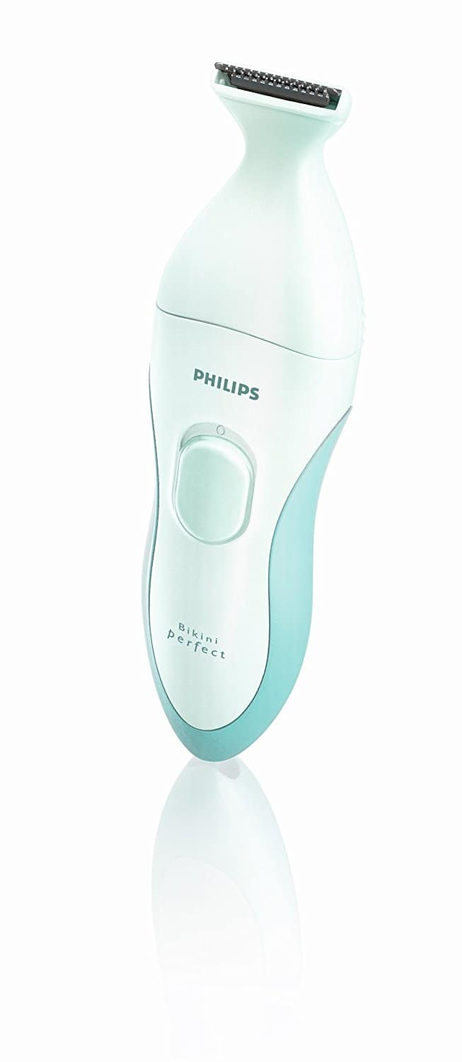 Philips BikiniPerfect Advanced HP6378 Bikini Trimmer Kit, Rechargeable wet & dry use, 6 attachments + Beauty Bonus [Opal / Aqua, 6 Attachments] $49.95