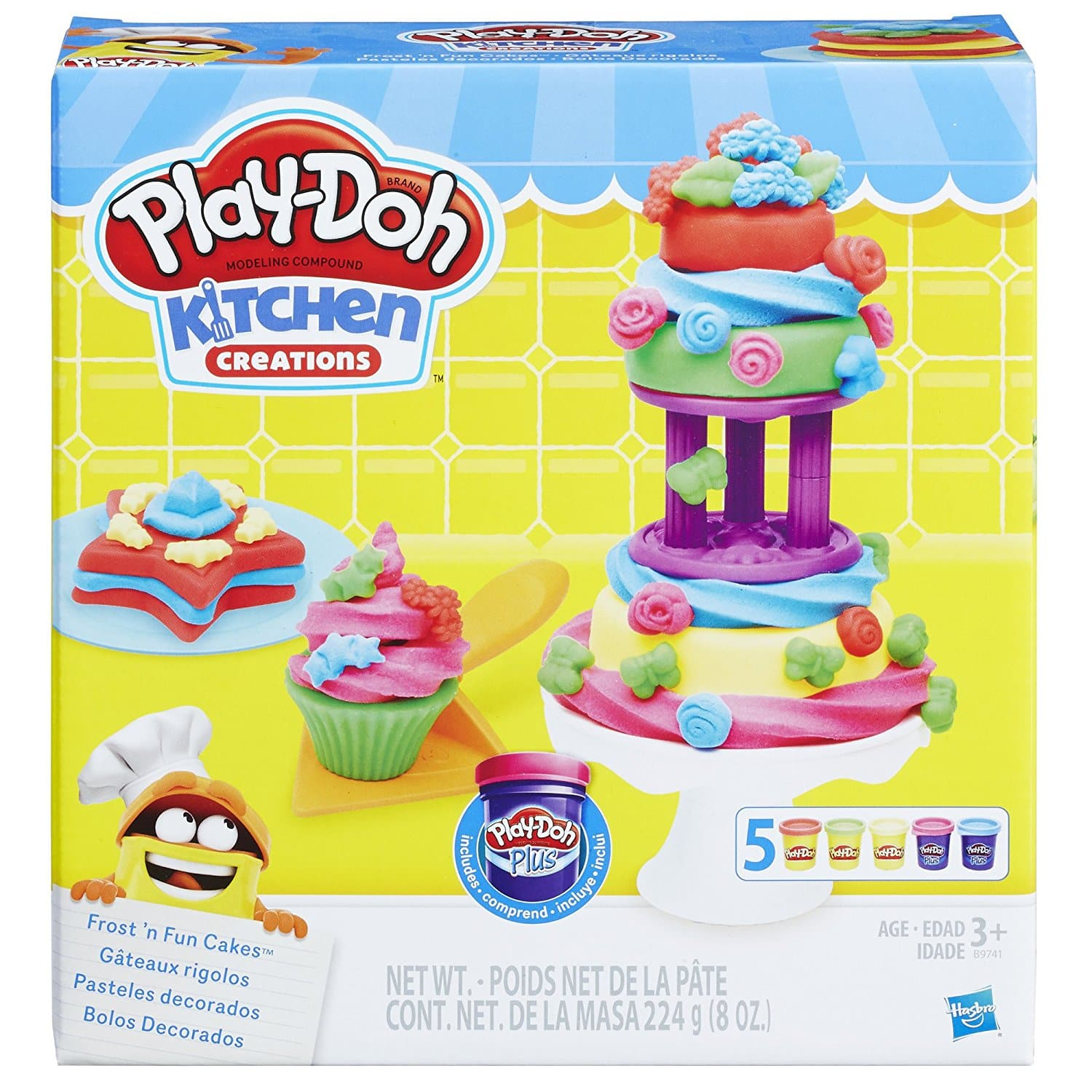 Play-Doh Kitchen Creations Frost 'n Fun Cakes - Amazon Add-On $4.88