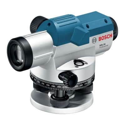 Bosch 11.75 in. Automatic Optical Level Kit with 24x Magnification Power Lens (3 Piece) YMMV $75
