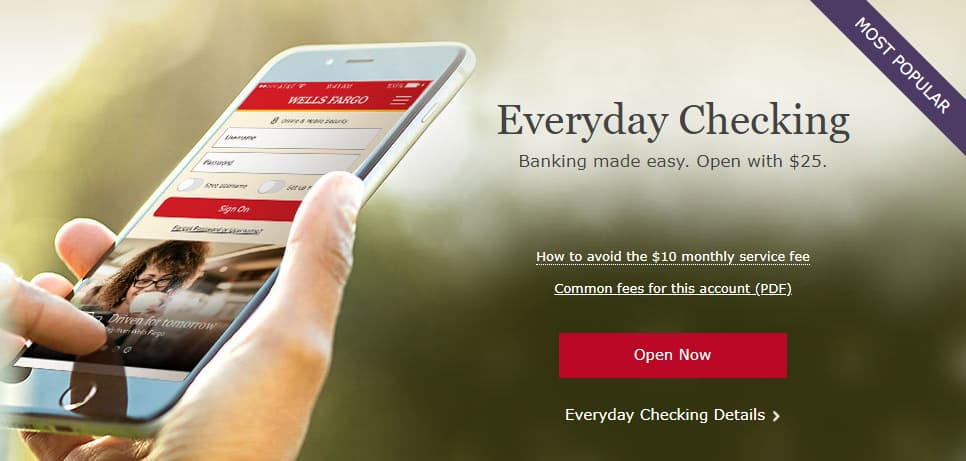 Wells Fargo Checking Account  $400 Bonus after Depositing $4,000 or more