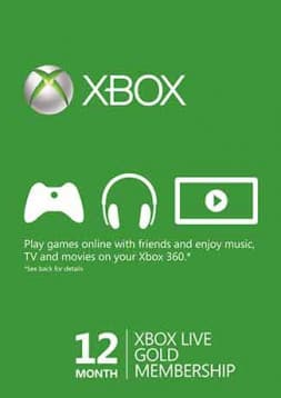 Xbox Live 12 Month Gold Membership (Xbox One/360) - Global  $42.99 @ gamesdeal