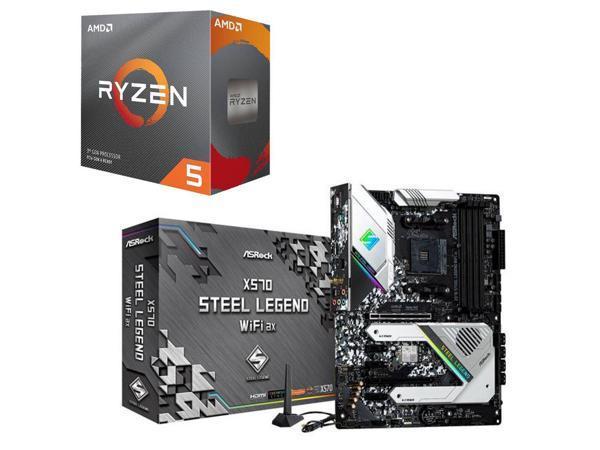 AMD Ryzen 5 3600 3 6GHz 6-Core CPU + ASRock X570 Steel