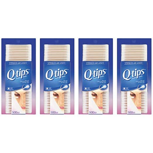 Q-tips Cotton, Swabs, 500 ct, 4 pack at Amazon $6.57 with 15% S&S