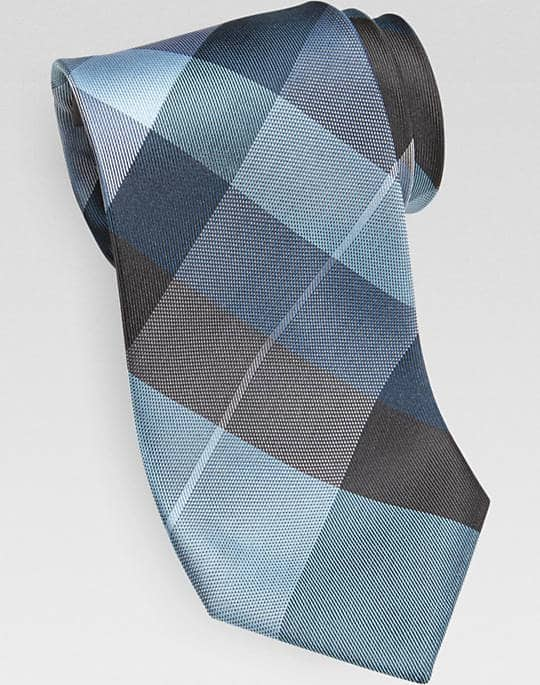 Calvin Klein Teal Diamond Narrow Tie $8.99