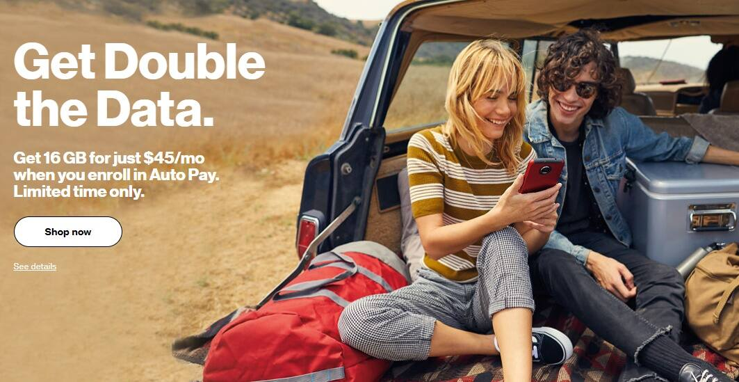 Verizon Prepaid deal 16GB for 45$ $45