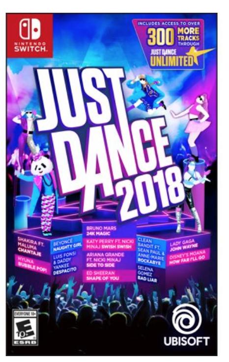Just Dance 2018 - Nintendo Switch -$15.82 @Walmart
