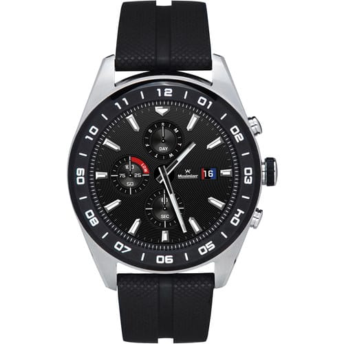 LG Watch W7 (Cloud Silver, Black Rubber Band) Smart Watch-$200 BHphoto