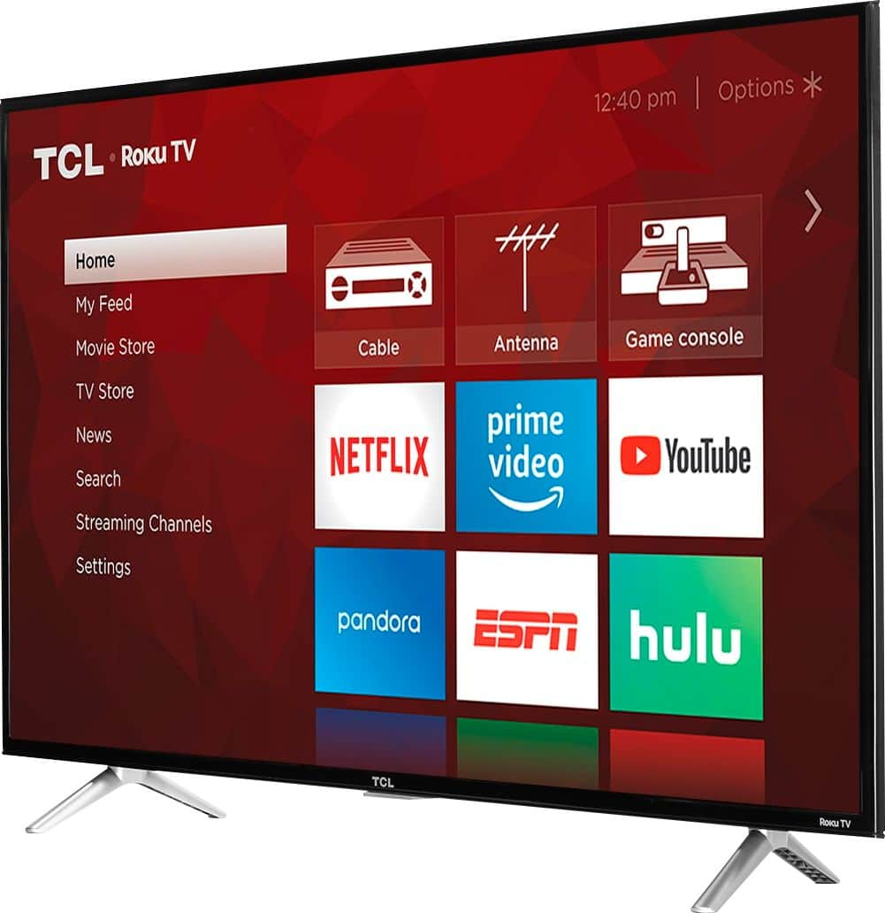 """TCL 43"""" Class LED 4 Series 2160p Smart 4K UHD TV with HDR Roku TV 43S405 - Best Buy $200 My Best Buy members only"""