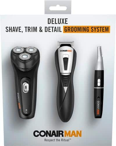 Conair ConairMan Deluxe Electric Shaver Black GK20 - Best Buy $30