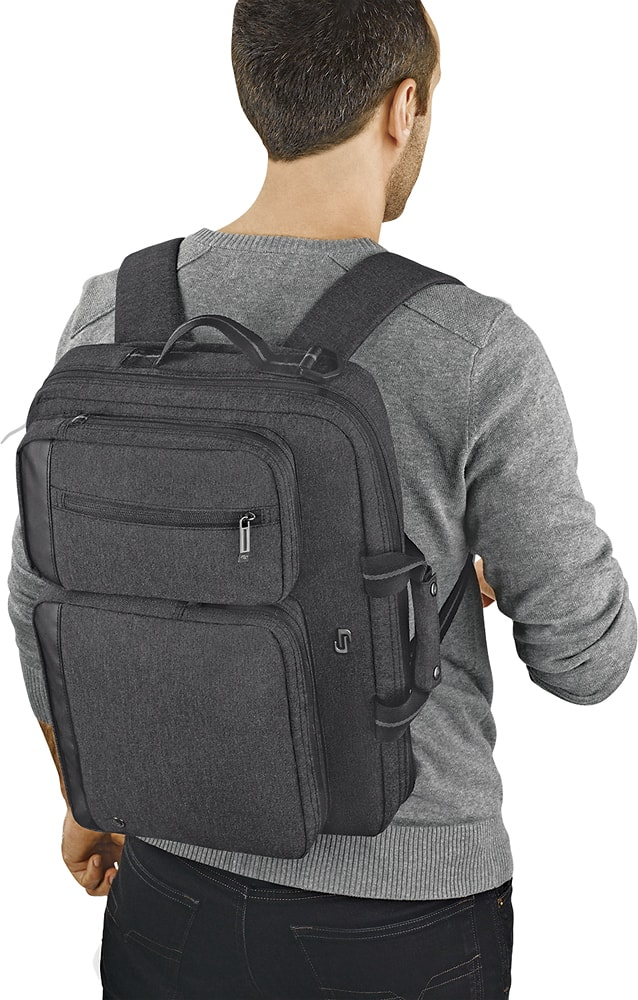 Solo Urban Convertible Laptop Briefcase Backpack Gray UBN310-10 - Best Buy $20