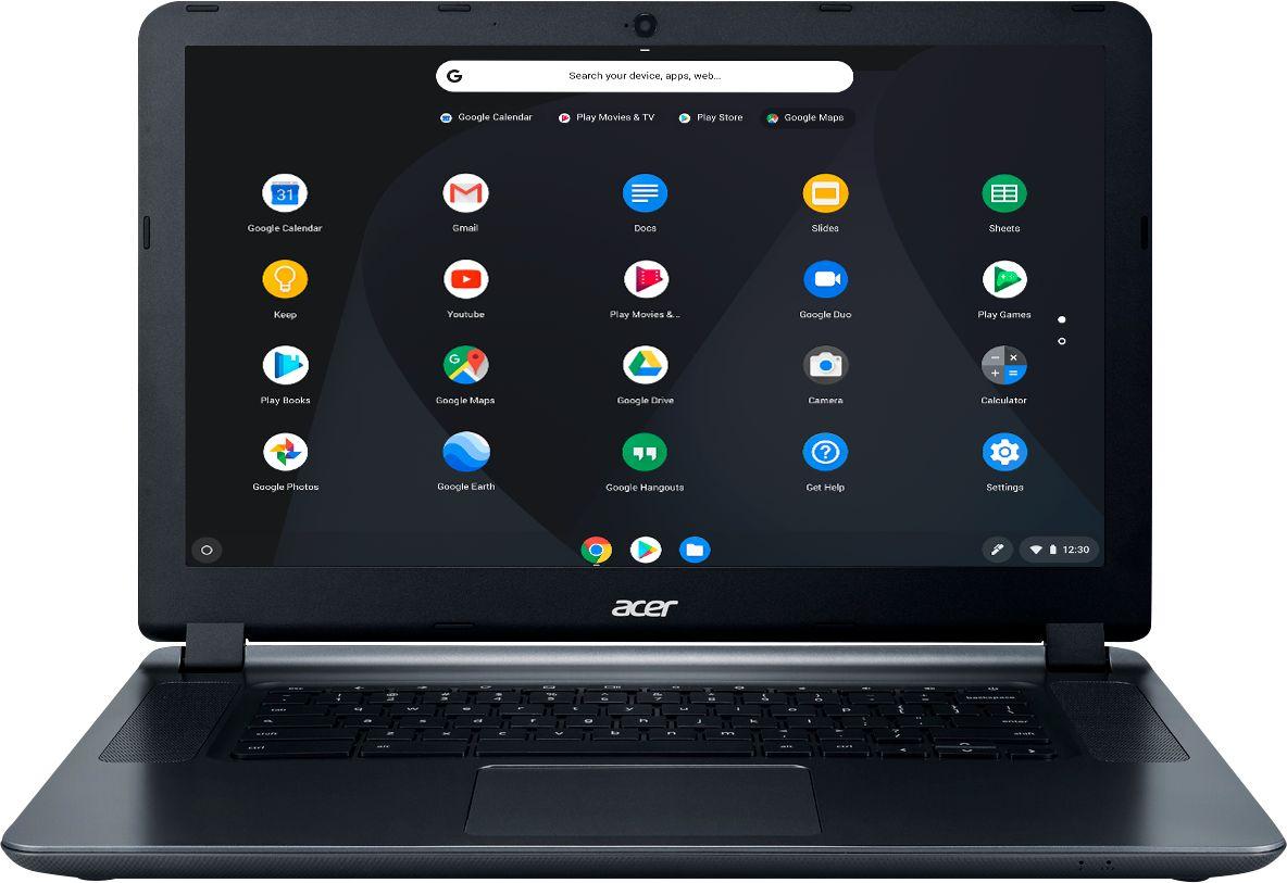 "Acer 15.6"" Chromebook Intel Celeron 4GB Memory 16GB eMMC Flash Memory Granite Gray CB3-532-C8DF - Best Buy $160"