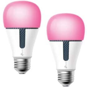 TP-LINK Kasa Smart Wi-Fi Multicolor LED Dimmable Light Bulb (2 pack) $40