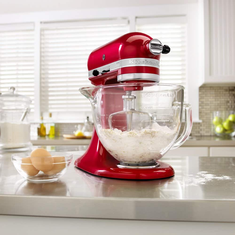 Kitchenaid Ksm155gbca 5 Qt Artisan Design Series With Glass Bowl Candy Apple Red 240