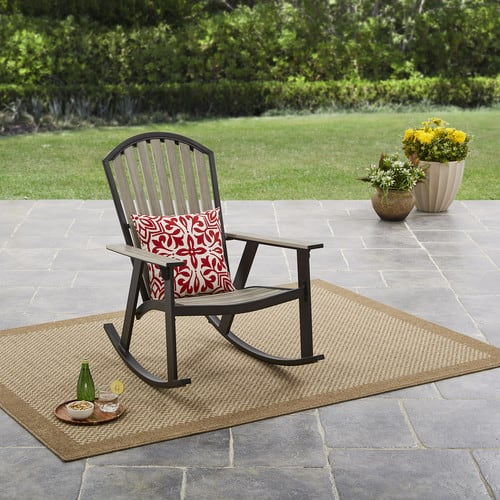 Mainstays Springview Hills Resin Outdoor Adirondack Rocking Chair $39.1