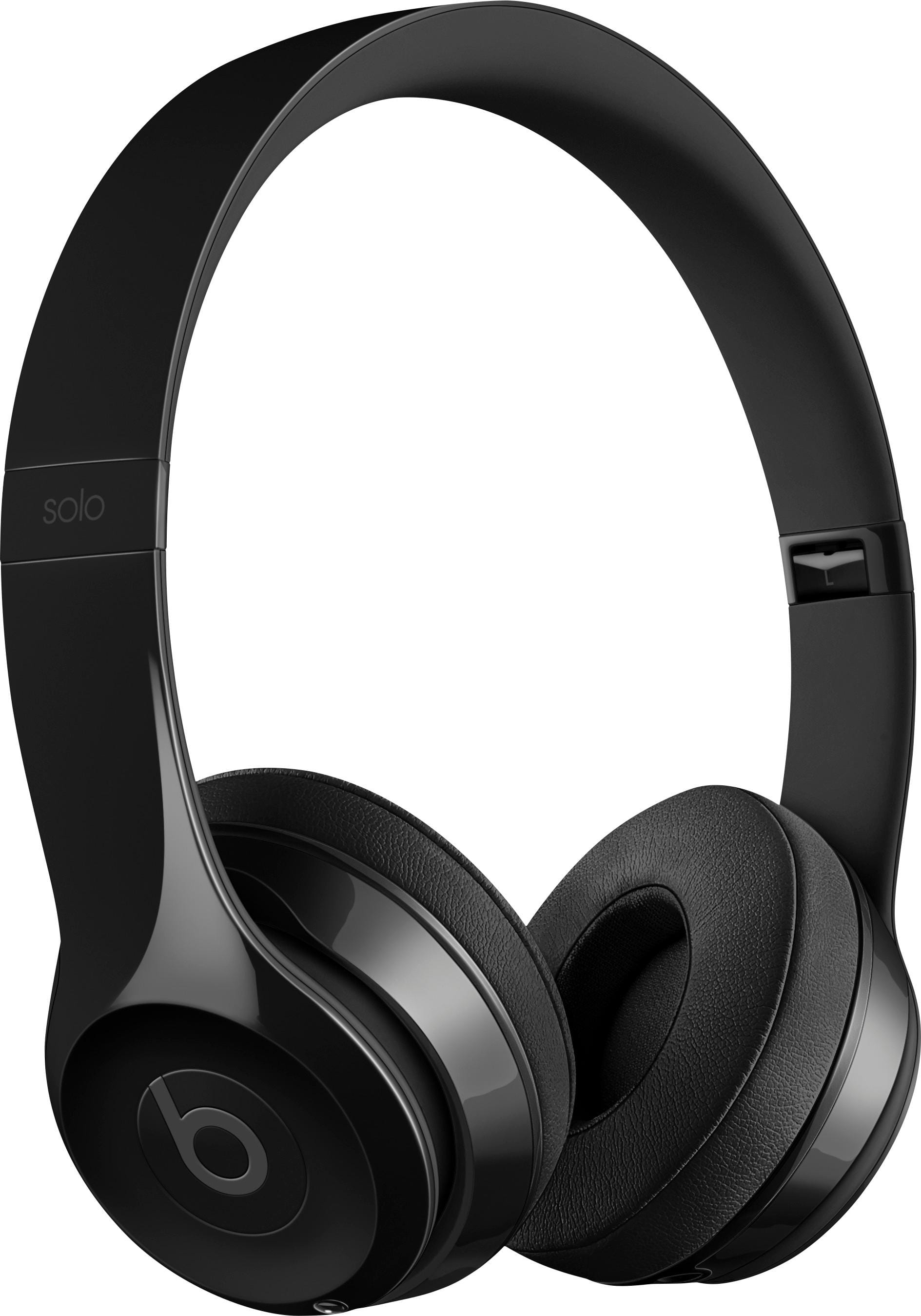 Beats by Dr. Dre Geek Squad Certified Refurbished Beats Solo3 Wireless Headphones Gloss Black GSRF-MNEN2LL/A-REFURBISHED - Best Buy $120