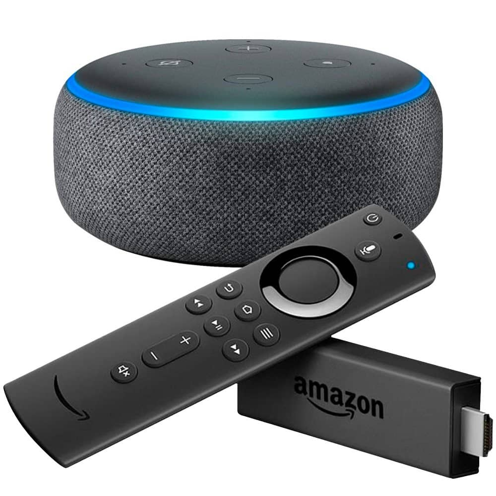 Amazon - Fire TV Stick Streaming Media Player with Alexa Voice Remote & Echo Dot (3rd Gen) - Charcoal $37