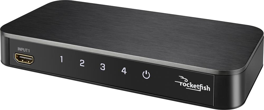 Rocketfish™ 4-Port 4K HDMI Switch Box Black RF-G1501 - Best Buy $50