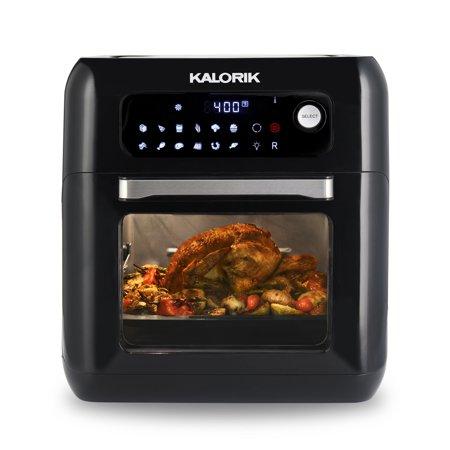 Kalorik 6 Quart Air Fryer Oven, Black $109