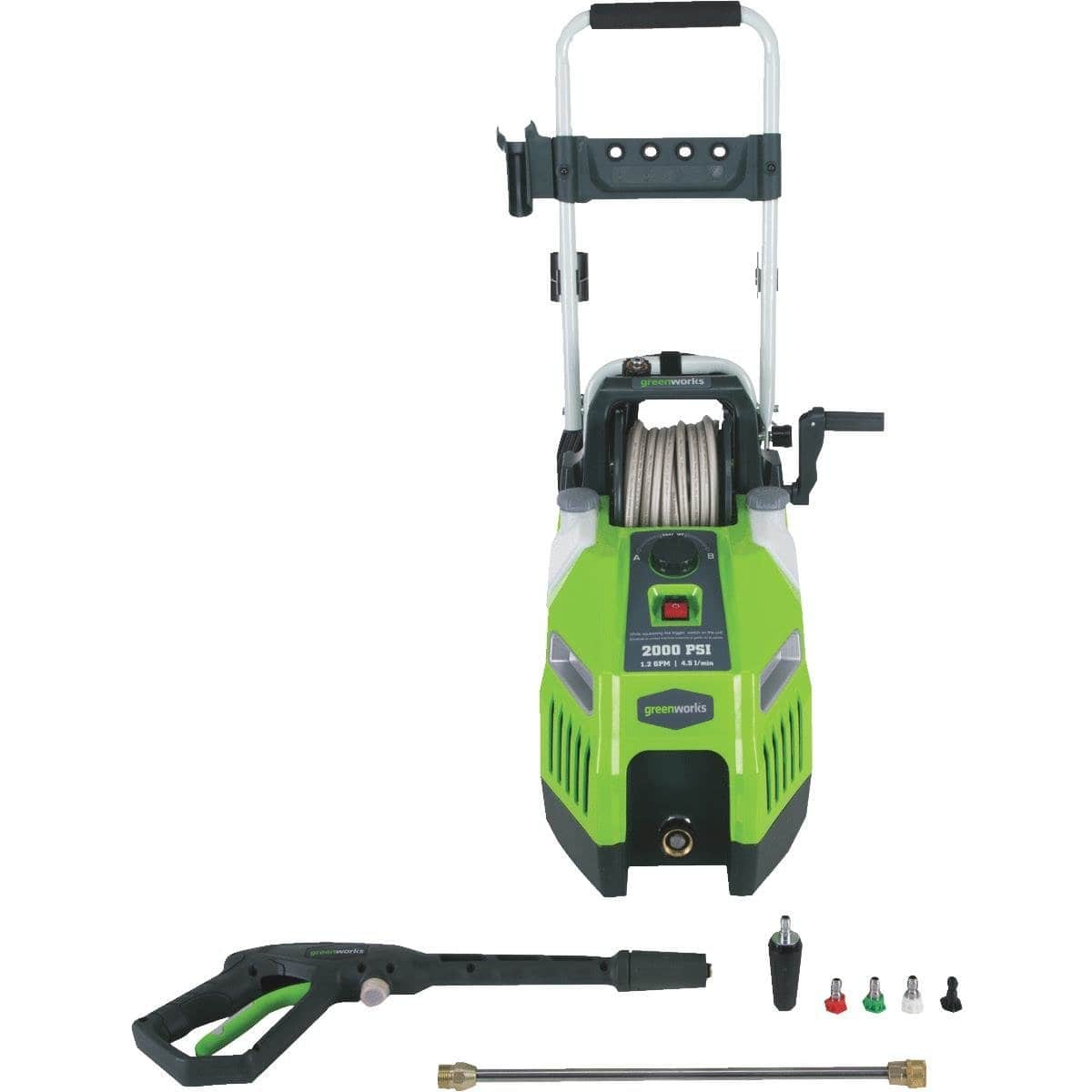 Greenworks 1700 PSI 13 Amp 1.2 GPM Pressure Washer with Hose Reel GPW1702 $92.5