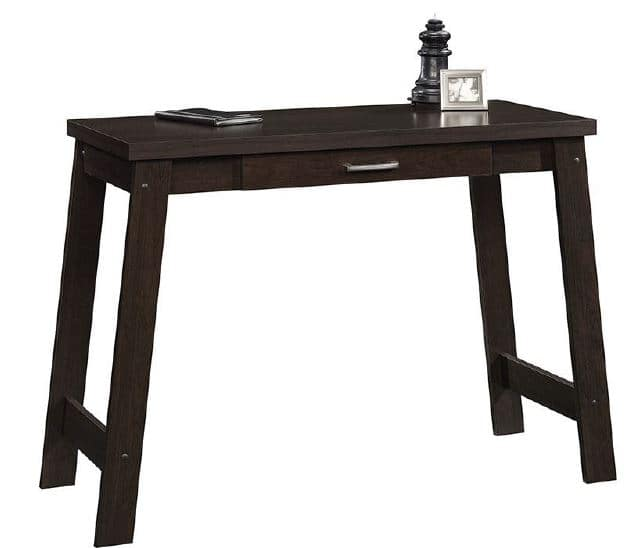 Mainstays Logan Writing Desk with Pullout Drawer, Multiple Finishes [finish: finish-espresso] $35